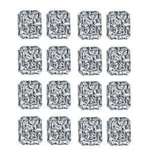 Rectangular Elongated Radiant Diamond Cut Rows - Ava Diamonds