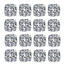 Square Cushion Cut Diamond Layouts - Ava Diamonds