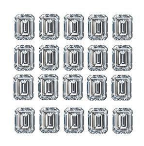 Emerald Shape Diamond Layouts - Ava Diamonds