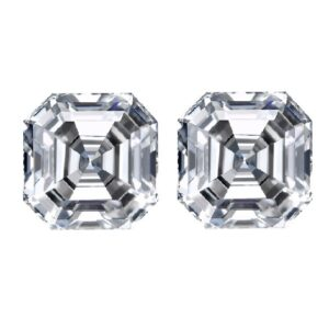 loose asscher cut diamond side stones by Ava Diamonds