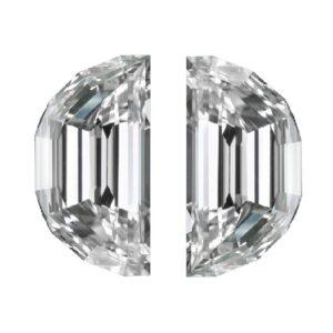 Step Cut Half Moon Diamonds for Side Stone use by Ava Diamonds