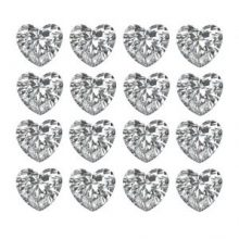 Heart Shaped Loose Diamonds Layouts & Rows - Ava Diamonds