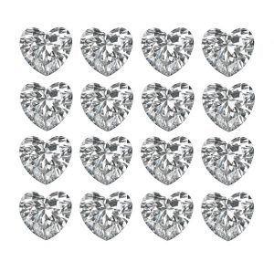 Heart Shaped Loose Diamonds Layouts & Rows - Ava Diamonds