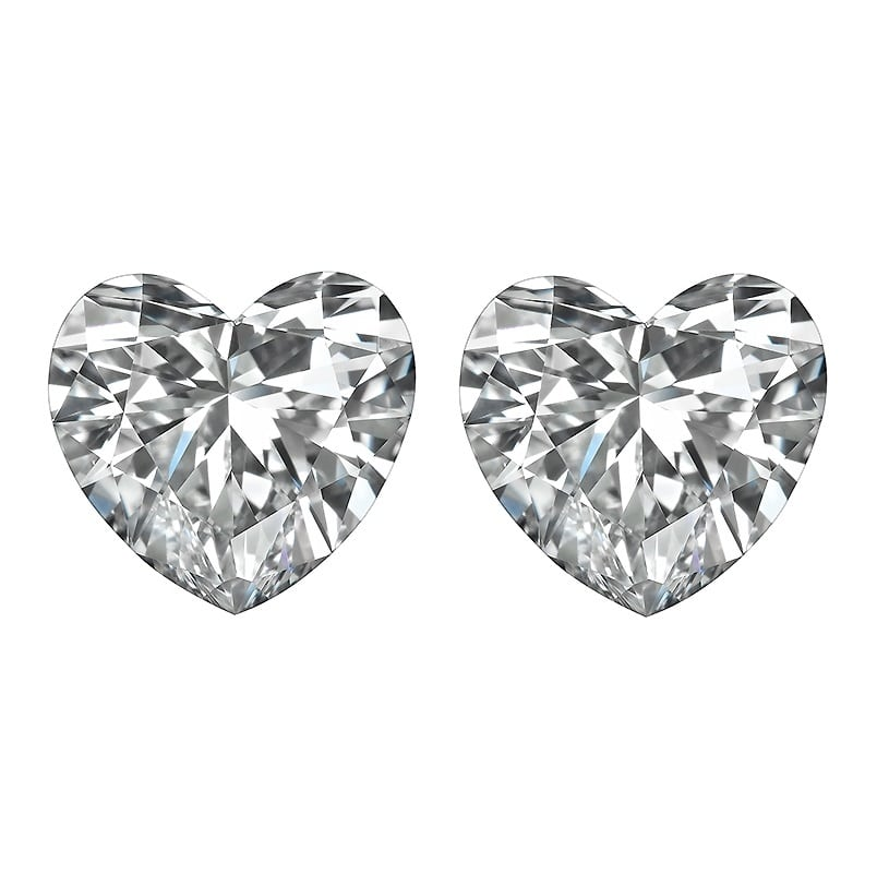 Loose Heart Diamond Brilliant Cut Side Stones by Ava Diamonds