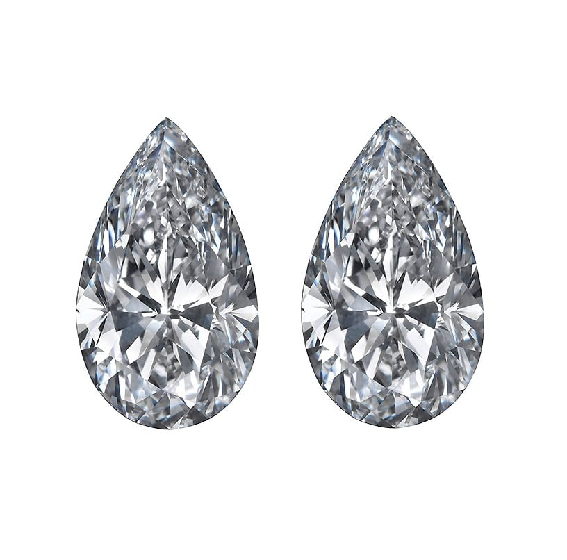 Pear Cut Diamond Side Stones by Ava Diamonds