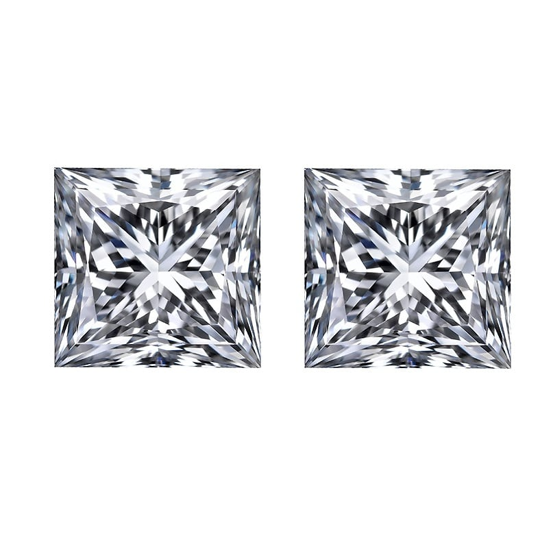 Loose Princess Cut Diamonds for Side Stones by Ava Diamonds