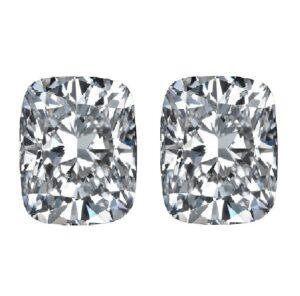 Elongated Cushion Cut Diamond Side Stones by Ava Diamonds