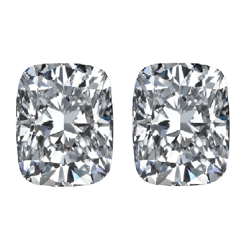 Elongated Cushion Cut Diamond Side Stones by Ava Diamonds