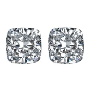 Square Cushion Cut Diamond Side Stones by Ava Diamonds