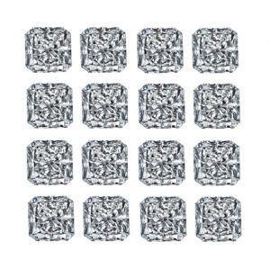 Square Radiant Shape Diamond Layouts - Ava Diamonds
