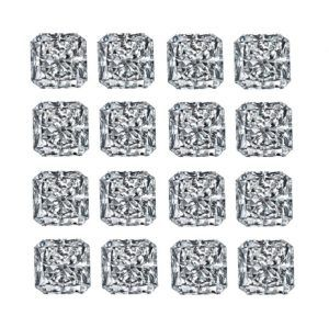 Square Radiant Shape Diamond Layouts - Ava Diamonds