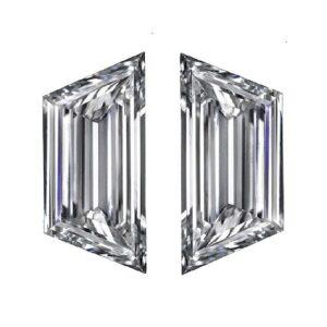 Step Cut Trapezoid Diamond Pairs