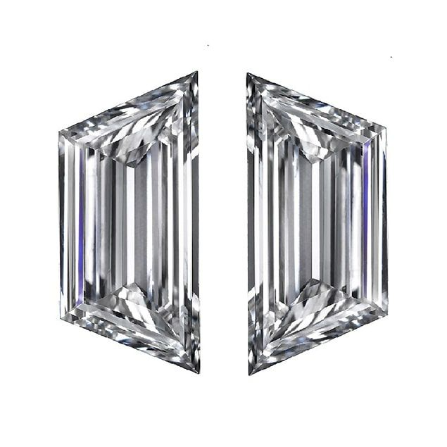 Step Cut Trapezoid Diamond Pairs