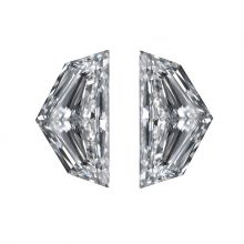 epaulette cut diamond side stones by Ava Diamondsd