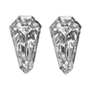 Elongated Shield Step Cut Matching Diamond Pairs - Ava Diamonds