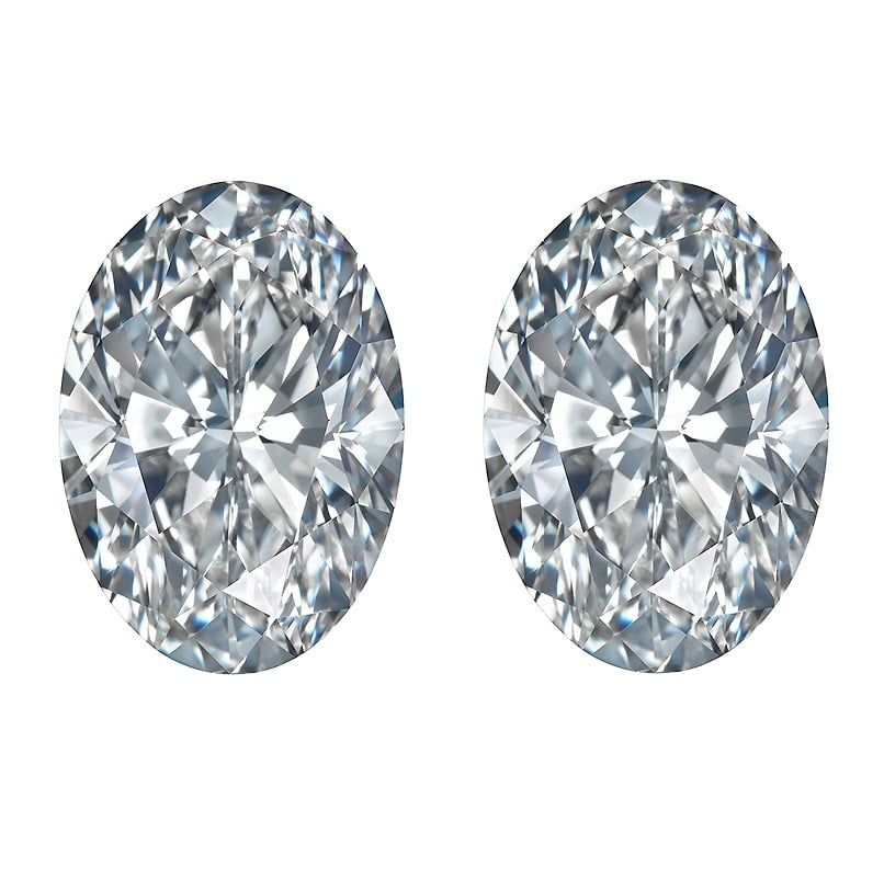 Oval Diamond Cuts Side Stones by Ava Diamonds