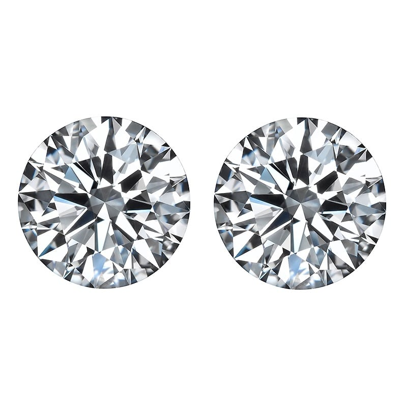 brilliant cut round diamonds side stones by Ava Diamonds