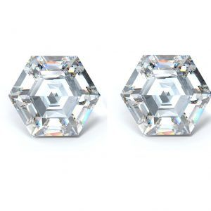 Hexagon Diamond Cut Side Stones - Ava Diamonds