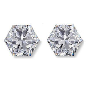 Hexagon Brilliant Cut Diamond Side Stones - Ava Diamonds