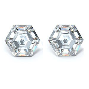 Hexagon Step Cut Diamond Side Stones - Ava Diamonds