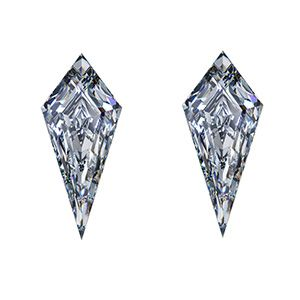 Kite Cut Diamond Side Stones by Ava Diamonds