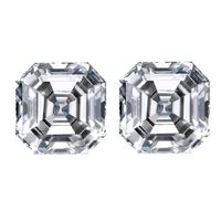 Asscher Cut Diamond Matching Pairs and Side Stones - Ava Diamonds