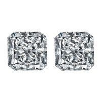 Square Radiant Cut Matching Pair Diamonds - Ava Diamonds