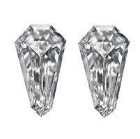 Long Shield Shaped Side Stone and Matching Pairs - Ava Diamonds