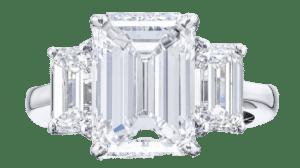 three stone diamond engagement ring1
