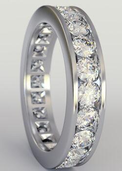 bright cut Pavé Engagement Ring