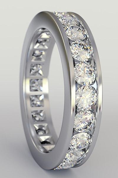 bright cut Pavé Engagement Ring3
