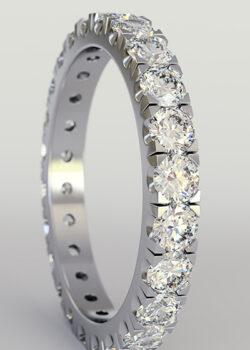 U Cut Pavé Engagement Rings