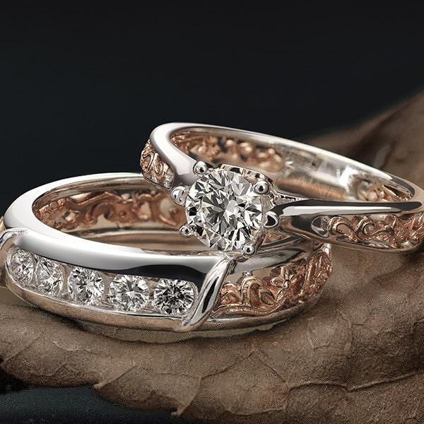 Filigree and Millegrain Vintage Edwardian Diamond Rings-min