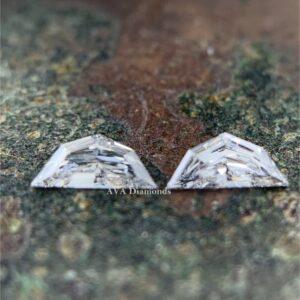 epaulet cut matching diamond pairs