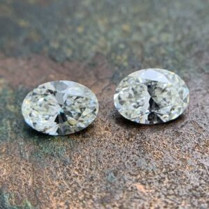 matching oval cut diamond pairs