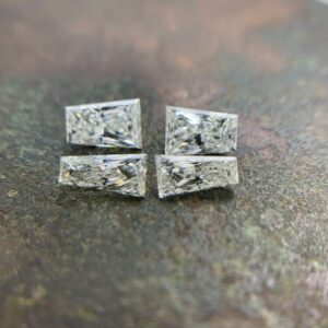 matching tapered baguette diamonds