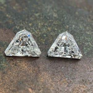 shield cut matching diamonds