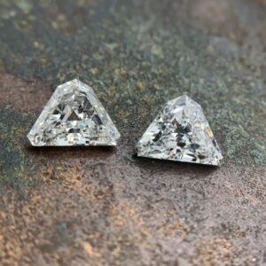 shield shaped diamond pairs
