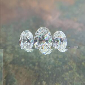 three oval cut diamonds for three stone rings