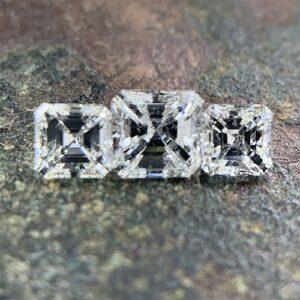 three stone asscher cut diamonds-min