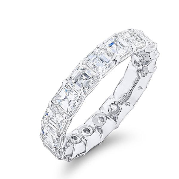 asscher cut diamond eternity band-min