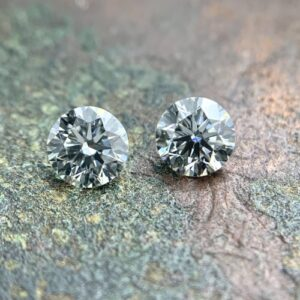 brilliant round cut diamond matching pair
