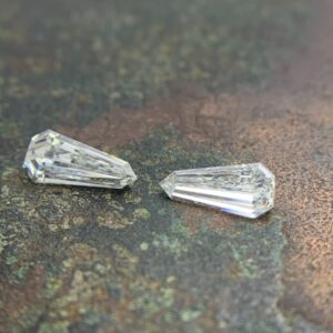 elongated shield cut matching pairs and side stones