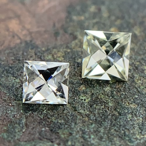 french cut diamond pairs for side stones