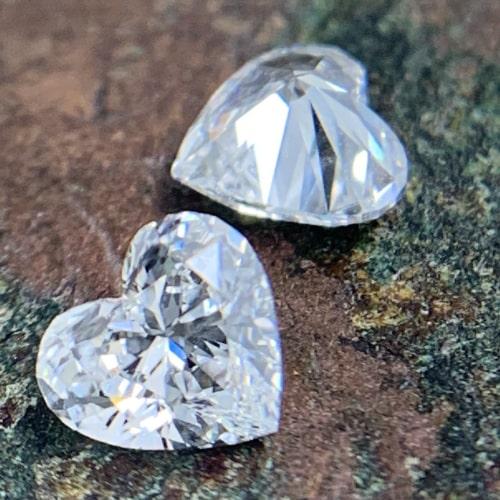 heart shaped diamond matching pairs