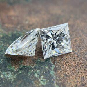 princess cut diamond matching pairs and side stones