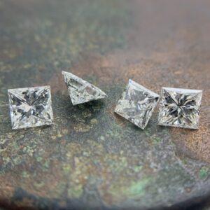 princess cut diamond rows and layouts