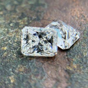 rectangular radiant cut diamond side stones