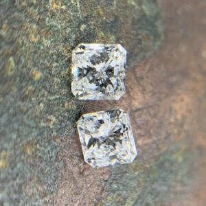 square radiant cut matching pairs side stones