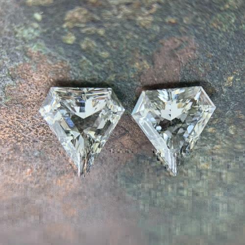 superman shield cut diamond side stones